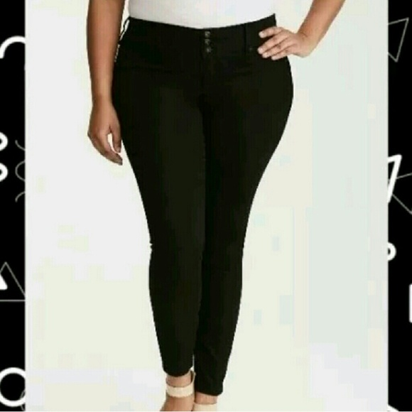 9aa305be24fc7 Jet Black Wash Jeggings Sz 22R
